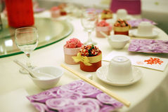 Wedding Table Detail Stock Photography