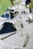 Wedding table details Stock Photos
