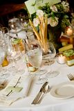 Wedding table details Royalty Free Stock Image