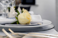 Wedding table details Royalty Free Stock Photography