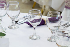 Wedding table Stock Images