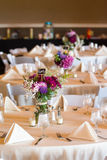 Wedding table. A table for family members is waiting for wedding guests to arrive Stock Photo