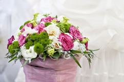 Wedding table floral centerpiece Royalty Free Stock Photos