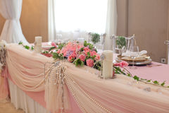 Wedding table flower Royalty Free Stock Image