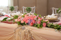Wedding table flower Royalty Free Stock Photos