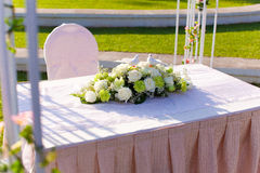 Wedding table flower Stock Images