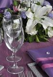 Wedding Table with Flowers Stock Photography