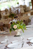 Wedding table and flowers Stock Photo