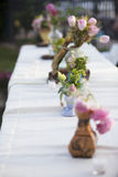 Wedding Table Flowers Royalty Free Stock Photo