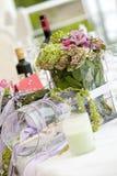 Wedding Table Flowers Stock Photo