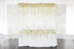 Wedding table flowers Royalty Free Stock Image
