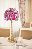 Wedding table flowers Stock Image