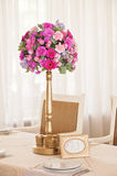 Wedding table flowers Stock Photography