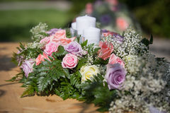 Wedding Table Flowers Royalty Free Stock Photography