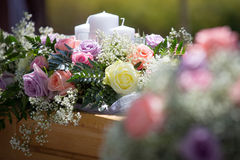 Wedding Table Flowers Royalty Free Stock Photos