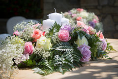 Wedding Table Flowers Stock Image