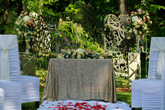 Wedding table for formal ceremony Royalty Free Stock Photography