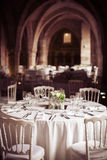 Wedding table. A wedding table in France Stock Image