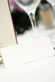 Wedding table invitation. Wedding table details with empty space for name Stock Photos