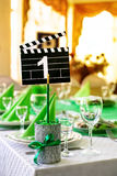 Wedding table in Movie style Royalty Free Stock Photography