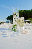 Wedding table set Royalty Free Stock Photos
