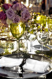 Wedding table set Royalty Free Stock Photography