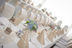 Wedding table set Stock Image
