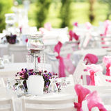 Wedding table set Stock Photography