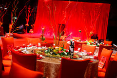 Wedding table. Set for dining Stock Photos