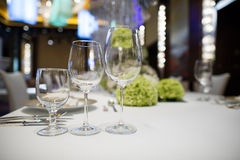 Wedding table. Set for dining Royalty Free Stock Image
