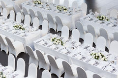 Wedding table. Set for dining,indoor wedding party Royalty Free Stock Photography