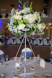 Wedding table set with flowers
