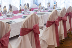 Wedding table set Stock Photography