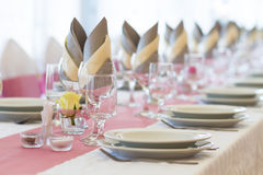 Wedding table set Stock Images