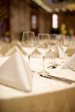 Wedding table set up Royalty Free Stock Images
