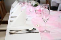 Wedding Table Setting Stock Photo