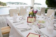 Wedding table setting 2 Royalty Free Stock Photos