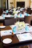 Wedding table setting Royalty Free Stock Photo