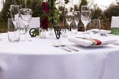 Wedding table setting 3 Stock Photos