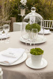 Wedding table setting 8. Outdoor wedding table setting idea, with menu detail Royalty Free Stock Photos