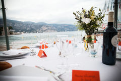 Wedding table setting Royalty Free Stock Photo