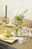 Wedding table setting Stock Photos