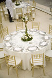 Wedding Table Setting in a  luxury Restaurant. Royalty Free Stock Photography