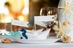 Wedding table setting. Royalty Free Stock Photo
