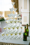 Wedding table setting in restaurant Royalty Free Stock Photo