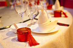WEDDING TABLE SETTING Royalty Free Stock Photography