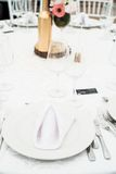 Wedding table setting Royalty Free Stock Images