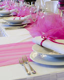 Wedding table setting Stock Image