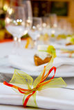 Wedding table setting. Tables decorated for a party or wedding reception Stock Images