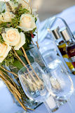 Wedding table setting5 Royalty Free Stock Image